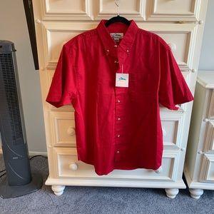 Men's red short sleeve shirt